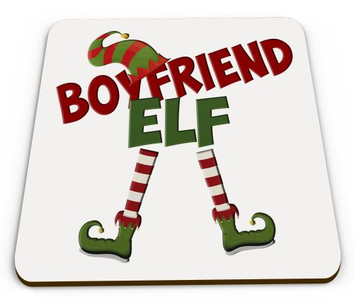 Christmas Elf Funny Novelty Glossy Coaster - Male Titles